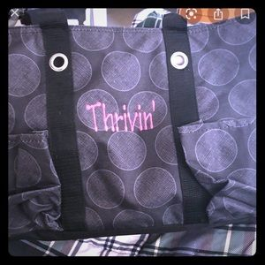 THIRTY-ONE TOTE BLACK & GRAY CIRCLES